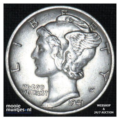 dime - mercury - - United States of America 1941 (KM 140) (kant A)