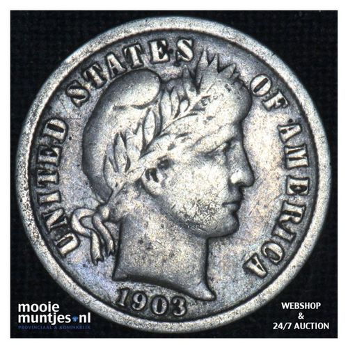 dime - barber - - United States of America 1903 O (KM 113) (kant A)