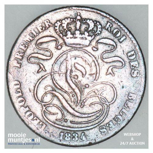 5 centimes - Belgium 1834 (KM 5.1) (kant A)