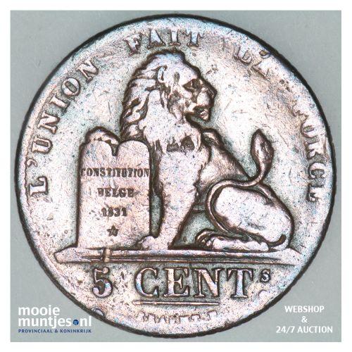 5 centimes - Belgium 1834 (KM 5.1) (kant B)