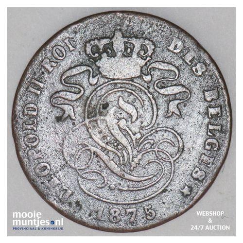 2 centimes - Belgium 1875 (KM 35.1) (kant A)