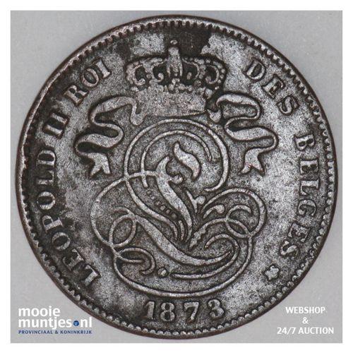 2 centimes - Belgium 1873 (KM 35.1) (kant A)