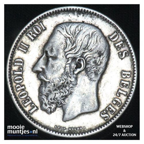 5 francs (5 frank) - Belgium 1875 (KM 24) (kant B)