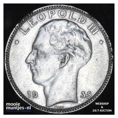 20 francs (20 frank) - Belgium 1935 (KM 105) (kant A)