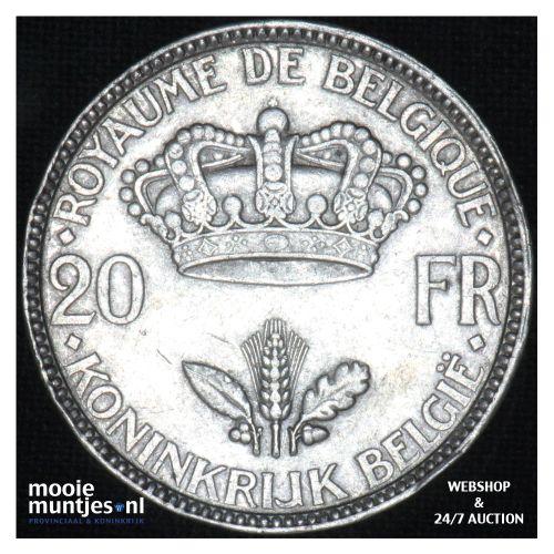 20 francs (20 frank) - Belgium 1935 (KM 105) (kant B)
