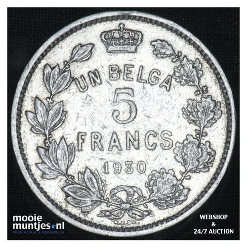 5 francs (5 frank) - Belgium 1930 (KM 97.1) (kant A)
