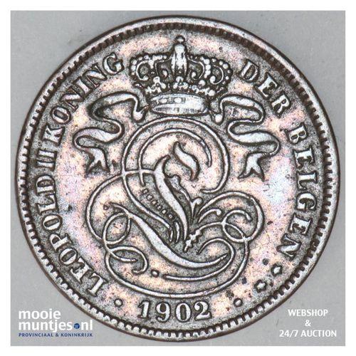 2 centimes - Belgium 1902 (KM 36) (kant A)