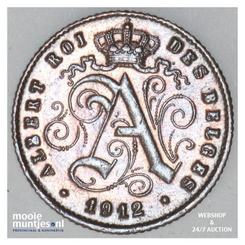 centime - Belgium 1912 (KM 76) (kant A)