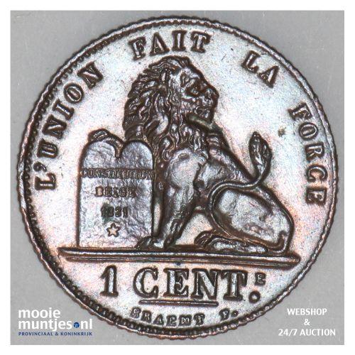 centime - Belgium 1912 (KM 76) (kant B)