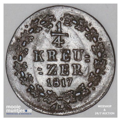 1/4 kreuzer - united Nassau -  - German States/Nassau 1817 (KM 41) (kant A)