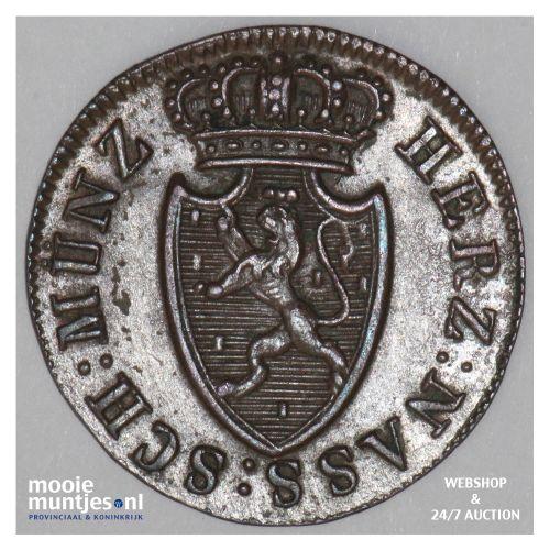 1/4 kreuzer - united Nassau -  - German States/Nassau 1817 (KM 41) (kant B)