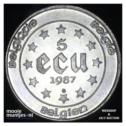 5 ecu - trade coinage -  - Belgium 1987 (KM 166) (kant A)