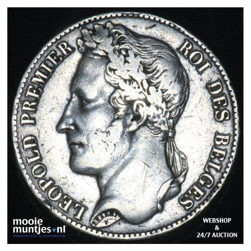 5 francs (5 frank) - Belgium 1848 (KM 3.2) (kant B)
