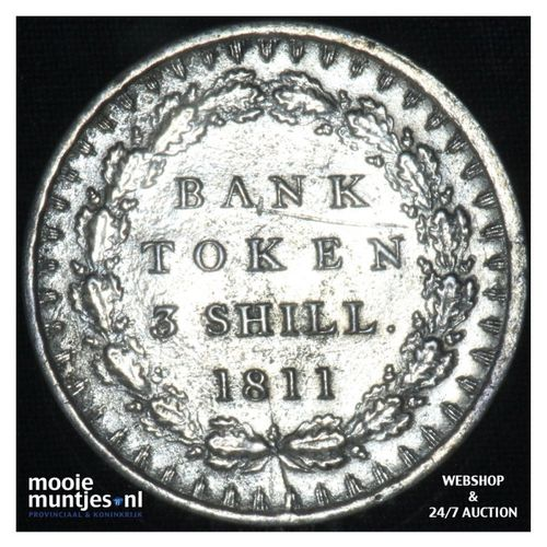 3 shilling - (token coinage) - Great Britain 1811 (KM Tn4) (kant A)