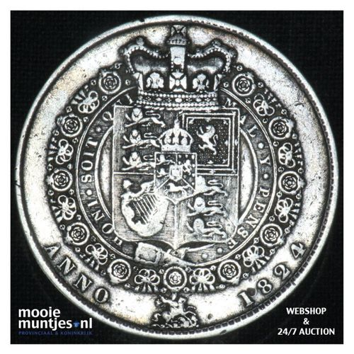 1/2 crown - Great Britain 1824 (KM 688) (kant A)