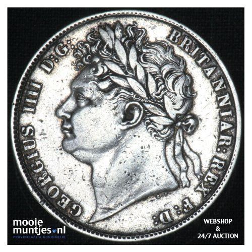 1/2 crown - Great Britain 1824 (KM 688) (kant B)