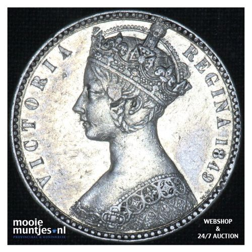 florin (two shillings) - Great Britain 1849 ww (KM 745) (kant A)