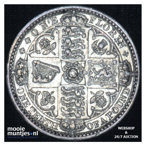 florin (two shillings) - Great Britain 1849 ww (KM 745) (kant B)