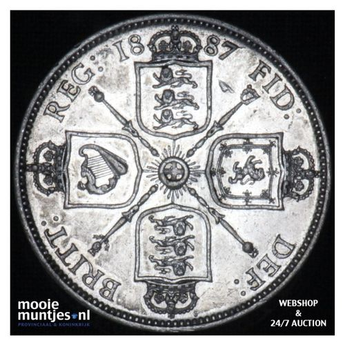 florin (two shillings) - Great Britain 1887 (KM 762) (kant A)