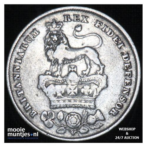 shilling - Great Britain 1826 (KM 694) (kant B)