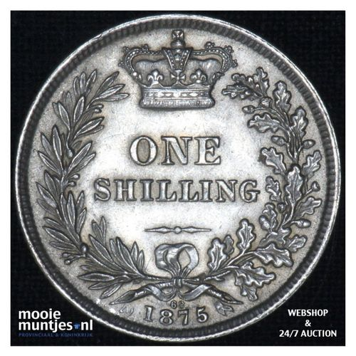 shilling - Great Britain 1875 (KM 743.2) (kant A)