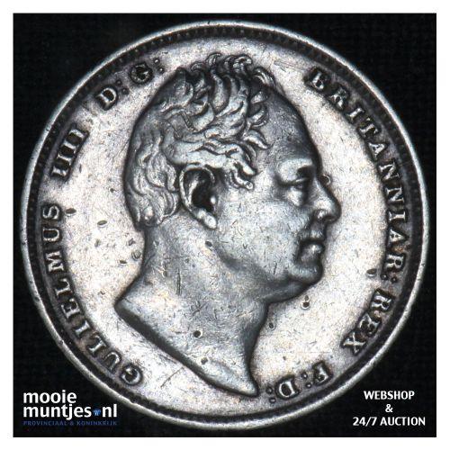 6 pence - Great Britain 1834 (KM 712) (kant B)