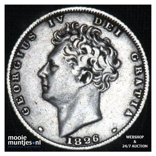 6 pence - Great Britain 1826 (KM 712) (kant A)