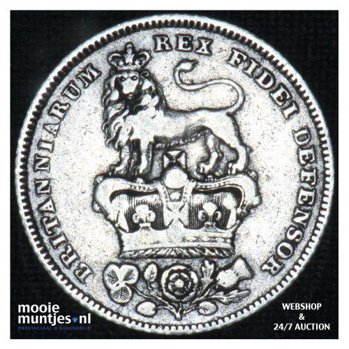 6 pence - Great Britain 1826 (KM 712) (kant B)