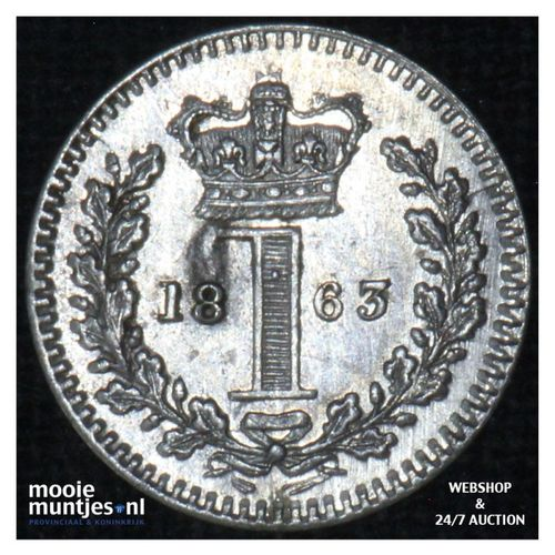 penny - Great Britain 1863 prooflike (KM 727) (kant A)