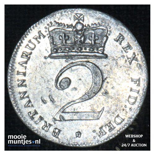 2 pence - Great Britain 1818 (KM 669) (kant B)