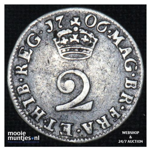2 pence - Great Britain 1706 (KM 513) (kant A)