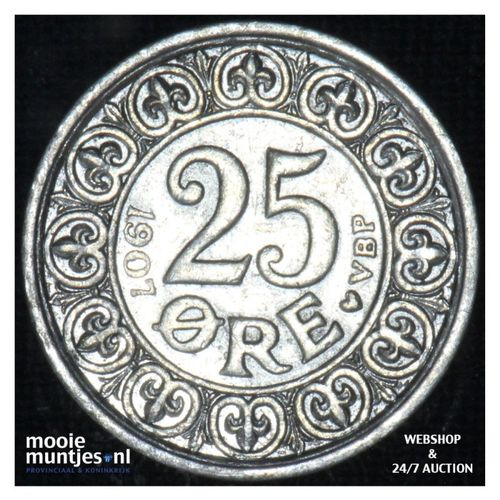 25 ore - Denmark 1911 (KM 808) (kant A)