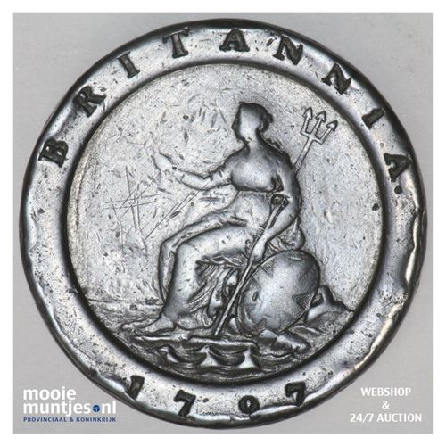 2 pence - Great Britain 1797 (KM 619) (kant A)