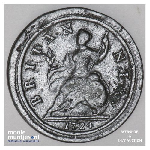 1/2 penny - Great Britain 1724 (KM 557) (kant A)