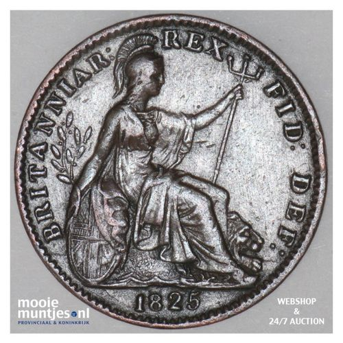 farthing - Great Britain 1825 (KM 677) (kant A)