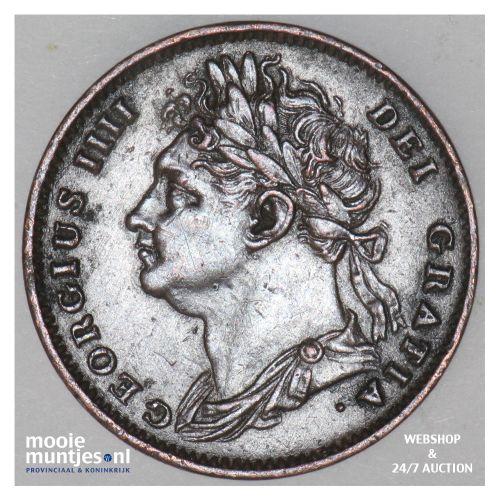 farthing - Great Britain 1825 (KM 677) (kant B)