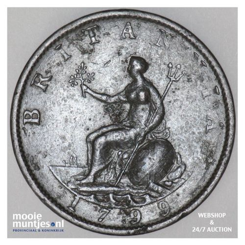 1/2 penny - Great Britain 1799 (KM 647) (kant A)