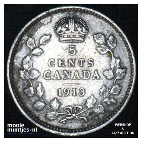 5 cents - - Canada 1913 (KM 22) (kant A)