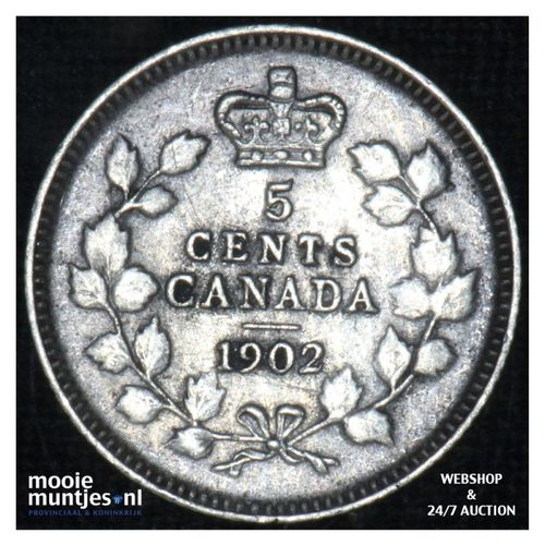 5 cents - - Canada 1902 (KM 9) (kant A)