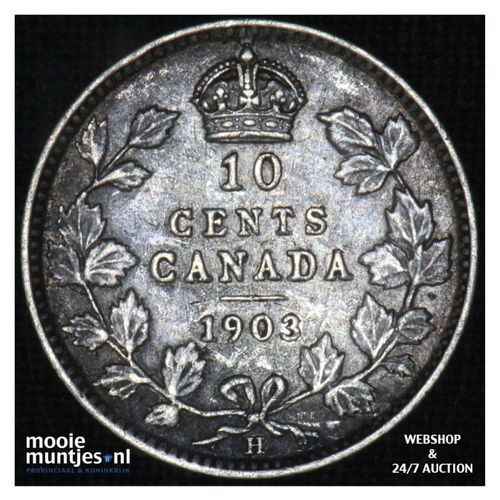 10 cents - - Canada 1903 H (KM 10) (kant A)