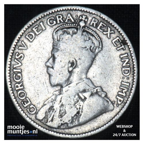 25 cents - - Canada 1915 (KM 25) (kant B)