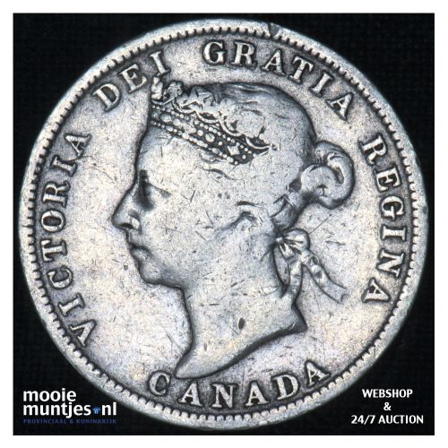 25 cents - - Canada 1901 (KM 5) (kant B)