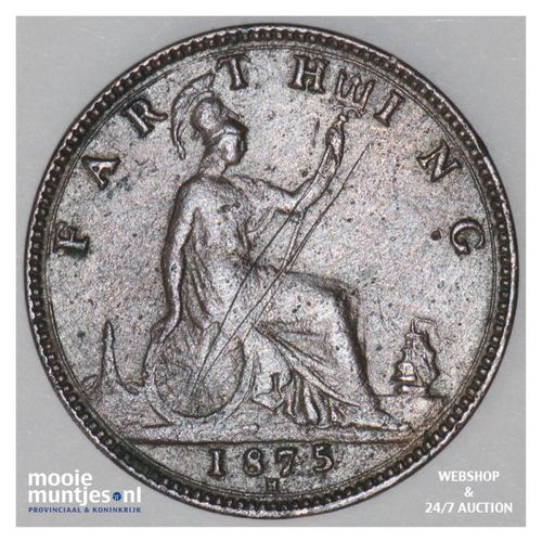 farthing - Great Britain 1875 H (KM 753) (kant A)