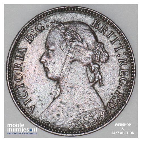 farthing - Great Britain 1875 H (KM 753) (kant B)