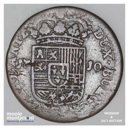 liard -  - Spanish Netherlands/Namur 1710 (KM 37) (kant A)