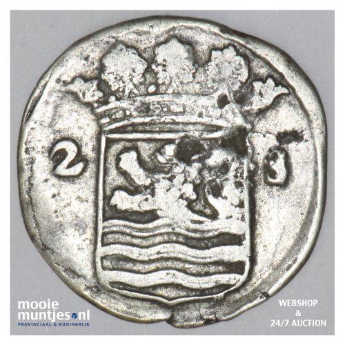 Zeeland - Dubbele wapenstuiver - 1718 (kant B)