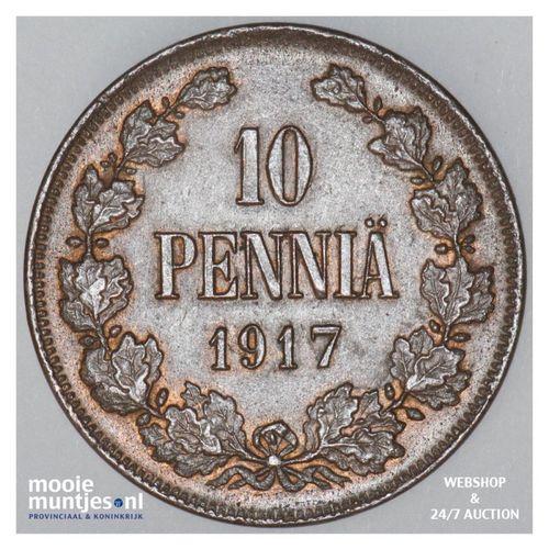 10 pennia - grand duchy -  - Finland 1917 (KM 14) (kant A)