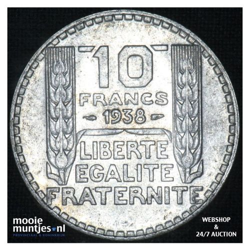 10 francs - France 1938 (KM 878) (kant A)