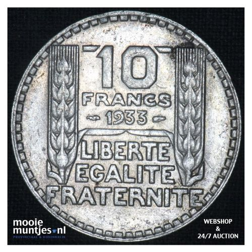 10 francs - France 1933 (KM 878) (kant A)