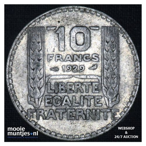 10 francs - France 1929 (KM 878) (kant A)